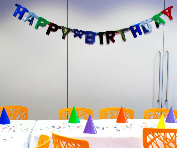 Party rooms can be rented to accommodate for private space for birthday parties.