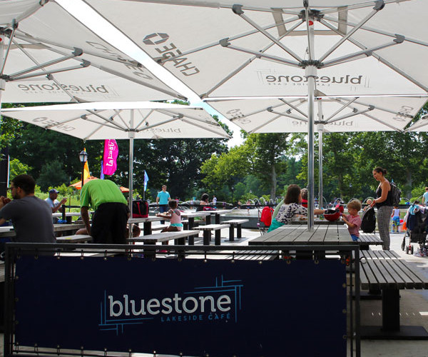 Bluestone is our indoor and outdoor café and ideal for a morning meeting with a continental breakfast assortment. If you are just looking to skate, then the café has plenty of food options to choose from.