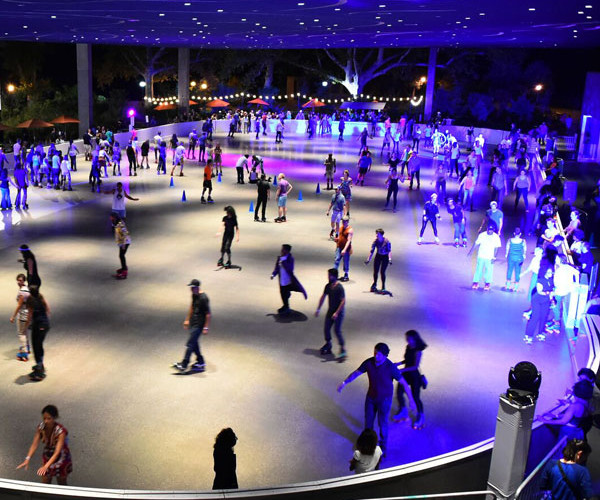 This area is most commonly used for skating, whether its roller or ice, we can accommodate up to 450 guests at one time.