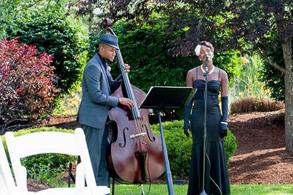 Jazz Duo - If you're looking to have a classic touch to your event, our jazz duo is the best option for your wedding. Whether it's an intimate performance for the rehearsal dinner or cocktail hour, they know how to transform top 40 hits into a beautiful romantic ballads.