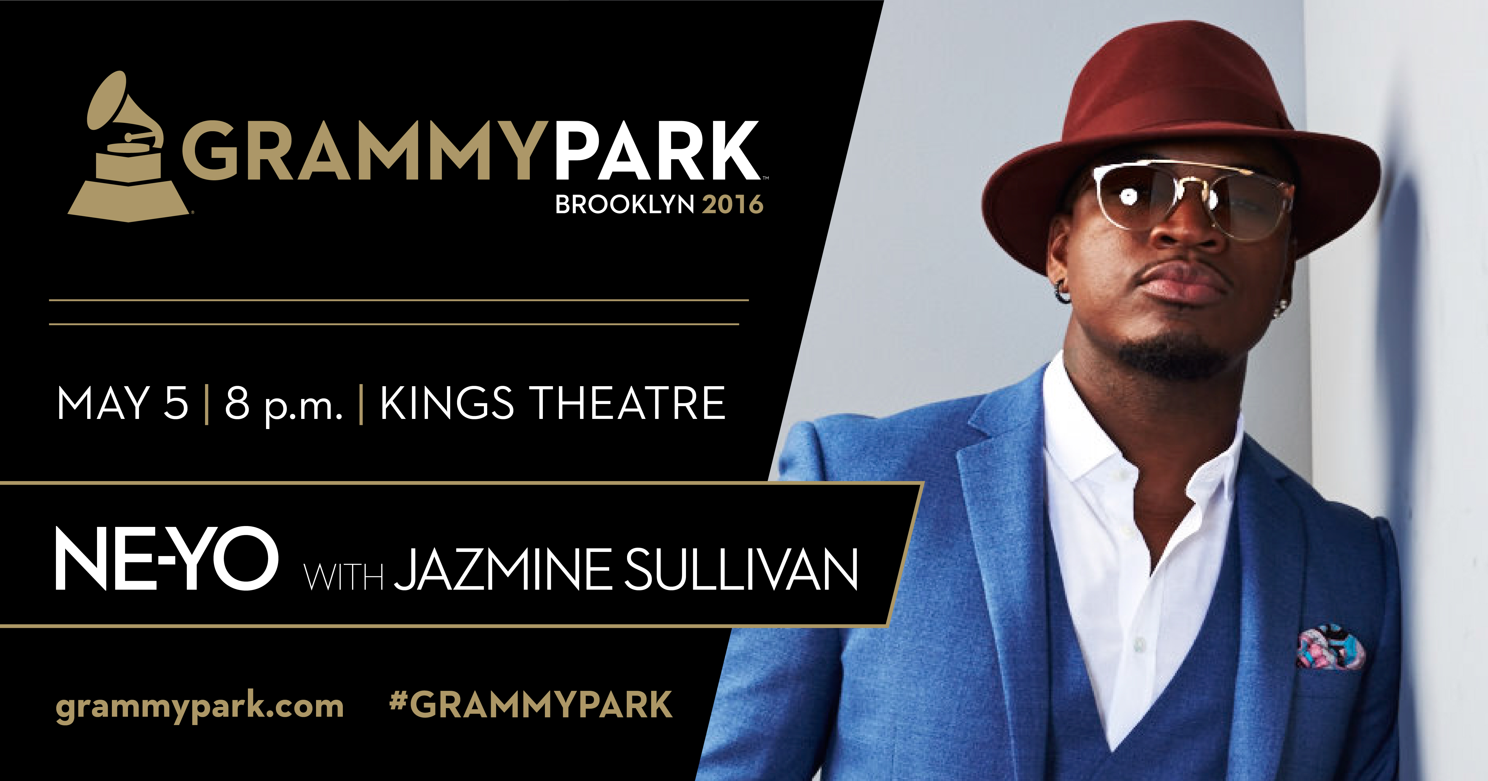 Ne-Yo with Jazmine Sullivan, live at Kings Theatre for GRAMMY Park.